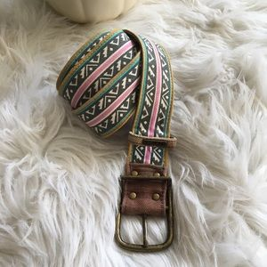 BILLABONG Vintage Tribal Burlap/Cotton Belt